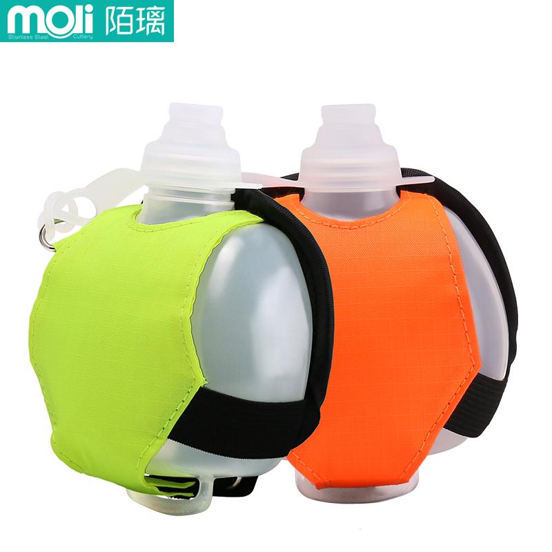 手腕水壶硅胶户外骑行便携随身运动水杯跑步耐摔健身房软手持水瓶,免费领取10元淘宝优惠卷