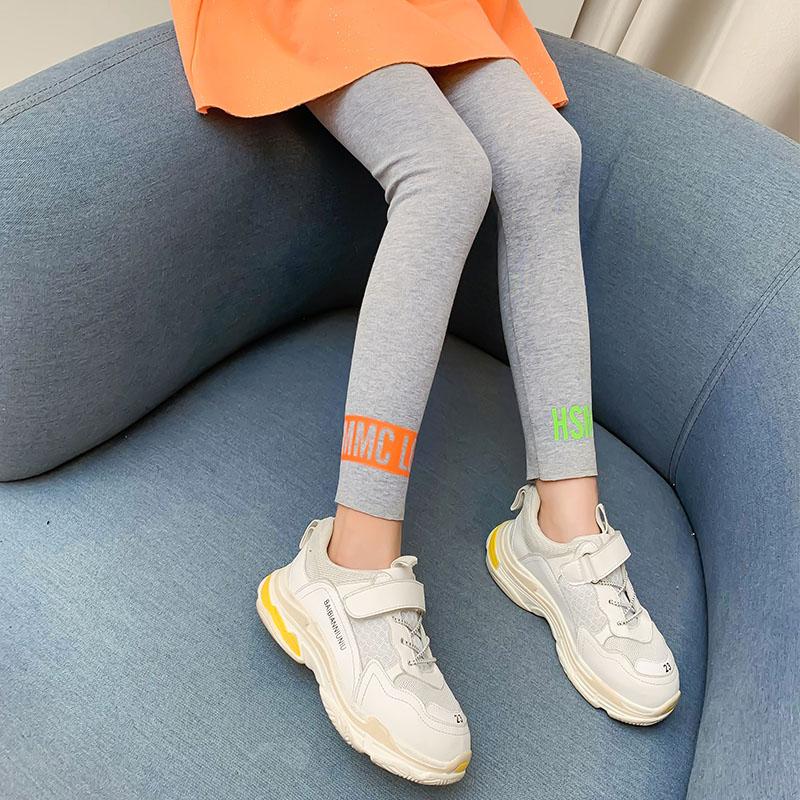 女童打底裤夏装薄款外穿洋气儿童莫代尔夏季七分小女孩中大童裤子