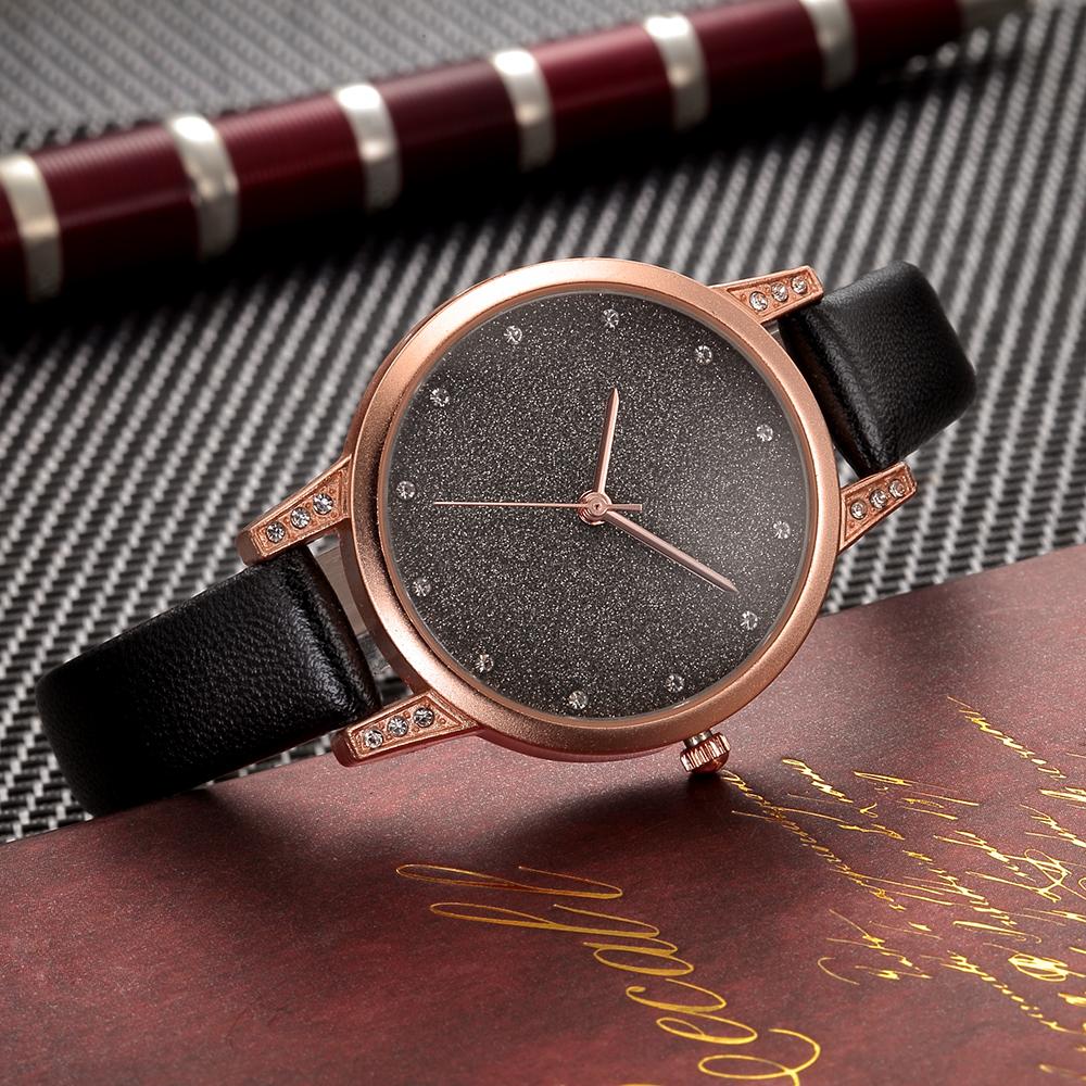 手表女钻石皮带非机械女士手表学生时尚超薄防水石英女表生日礼物