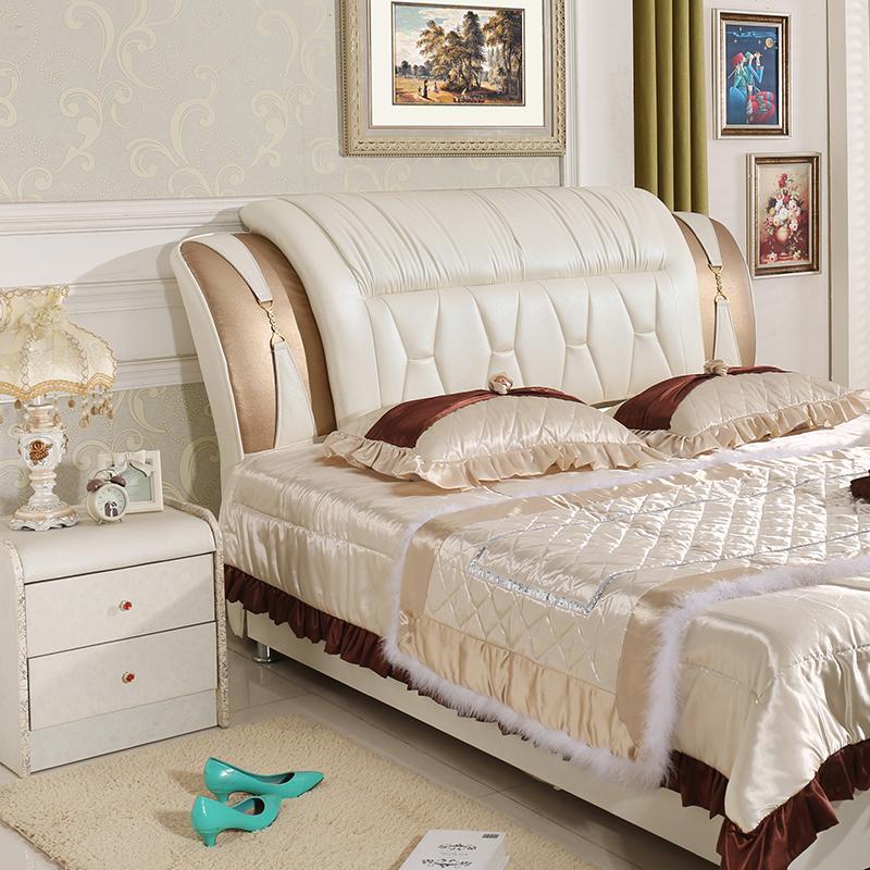 歐式床頭板軟包簡約現代皮藝1.8米床頭臥室雙人床靠背板床頭實木
