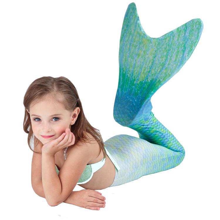 高質量美人魚尾巴游泳泳衣兒童公主蝶泳矯正神器甜馨款整套