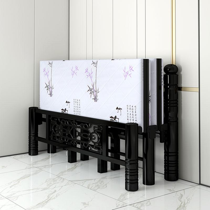 折叠床双人便携简易家用成人午休单人床出租屋宿舍1.5米1.2米铁床