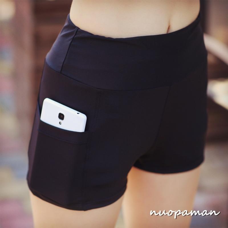 瑜伽短褲女夏季高腰防走光緊身彈力專業運動跑步健身房速幹瑜伽褲