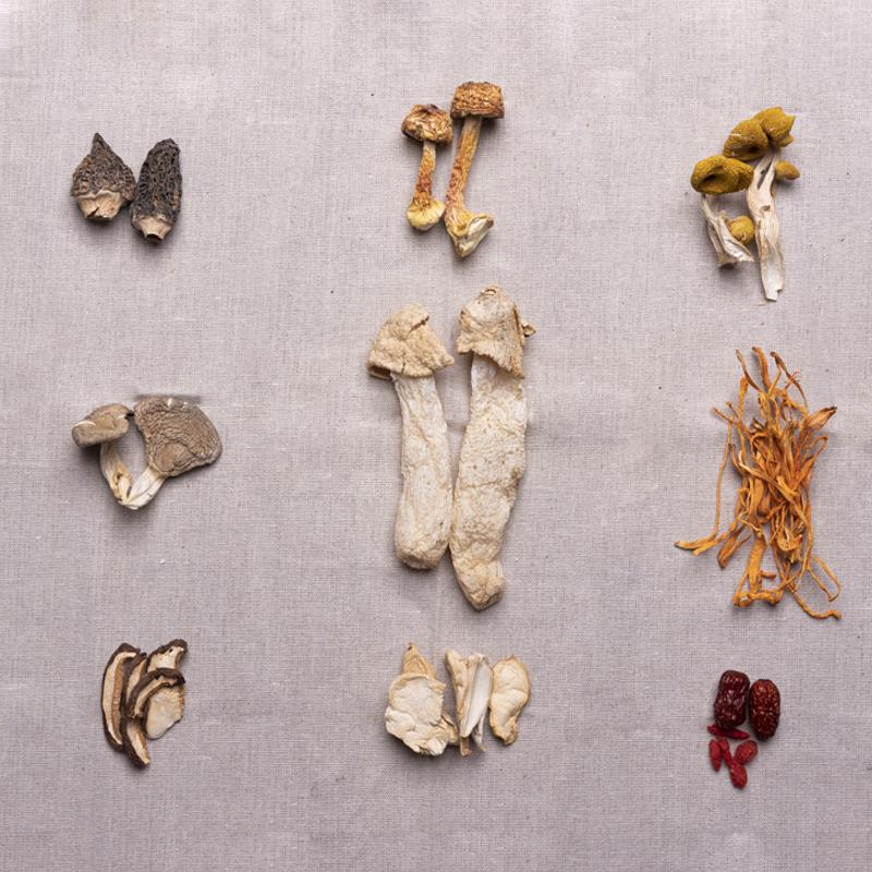 十味八菌汤包羊肚菌姬松茸鸡油菌食材组合云南特产煲汤干货 青珍