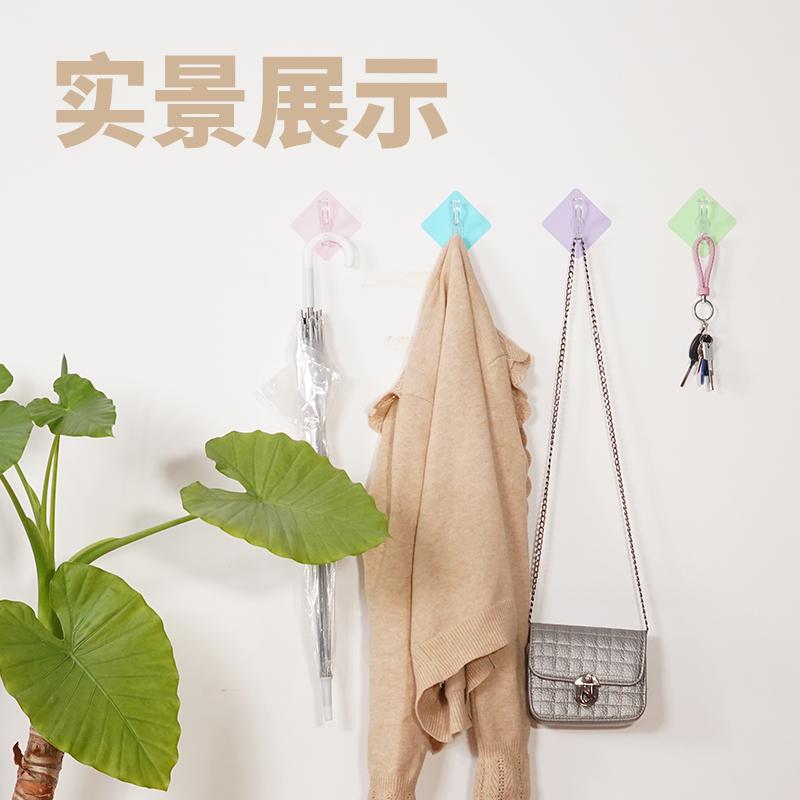挂钩强力粘胶门后上吸盘衣勾子厨房壁挂墙壁承重无痕贴免打孔粘钩