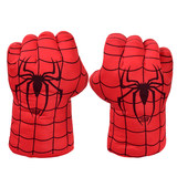Spiderman boxing gloves Hulk boxing tyrant gloves plush toy Iron Man doll Captain America anime cloth