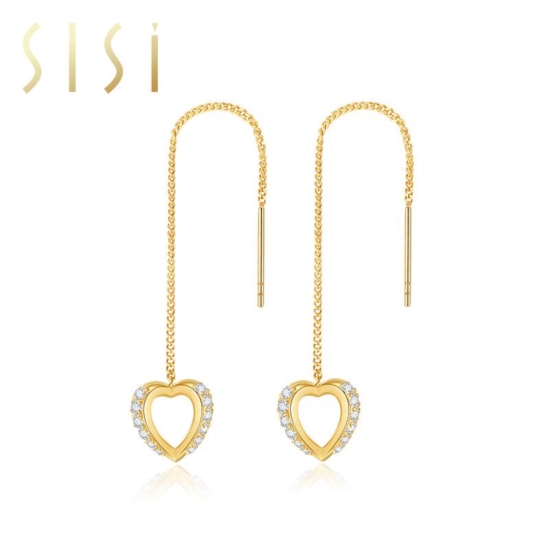 中国白银集团 八芒星耳环项链一款两戴小众设计生日礼物送女友  SISI