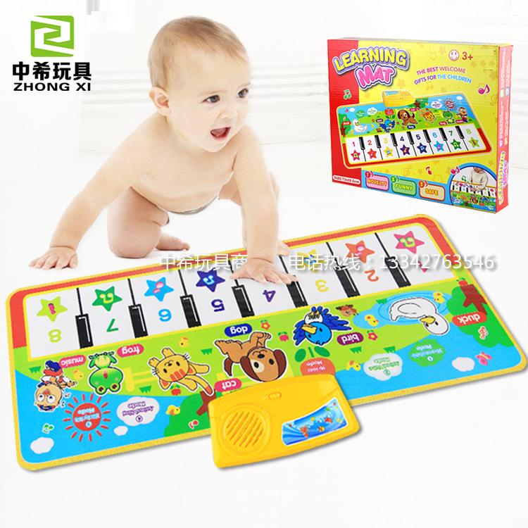 多功能钢琴音乐毯婴幼儿童可爱动物宝宝玩具亲子游戏毯热销