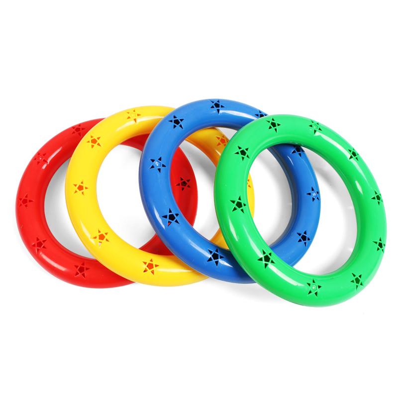 幼儿园晨操器械体操圈塑料早操有声体操环塑料舞蹈手环儿童手摇铃