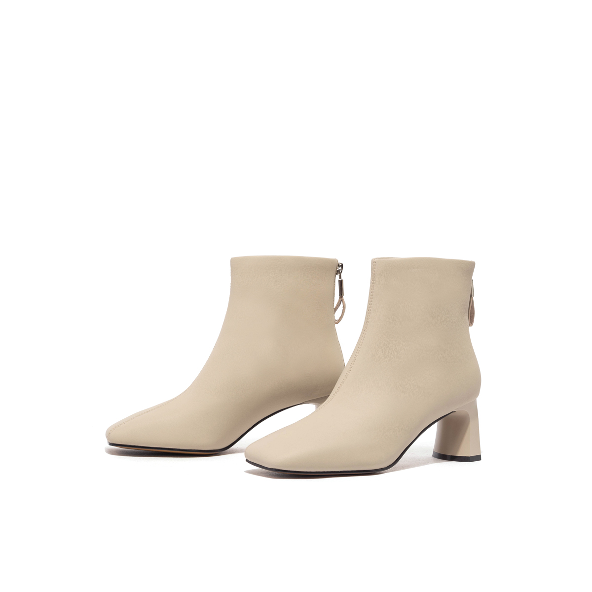 SS04116842 中跟短筒靴后拉链时装靴瘦瘦靴 2020 星期六靴子冬季新款
