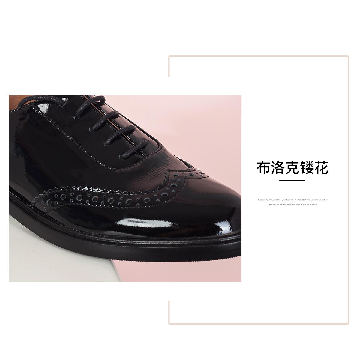SS03112246 新款秋季英伦圆头低跟商场同款女鞋 2020 星期六时尚单鞋