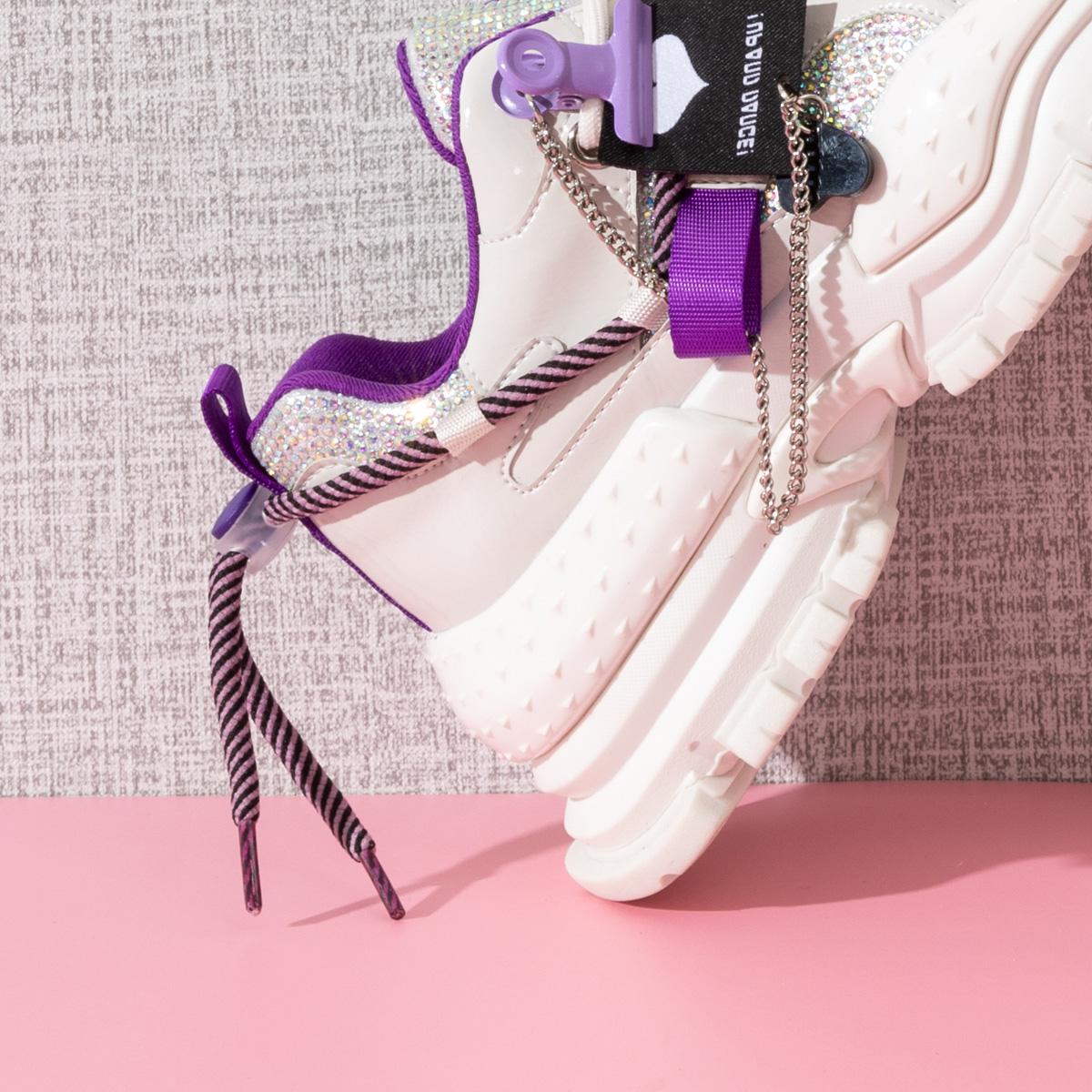 SS13112389 秋季新款圆头厚底拼色运动机甲鞋女鞋 2021 星期六老爹鞋