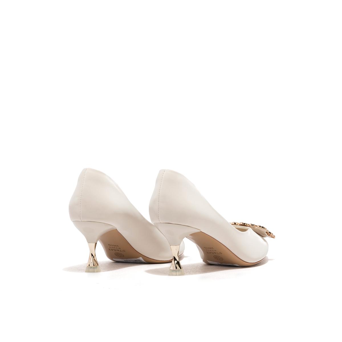 SS01111063 金属装饰细高跟单鞋 2020 星期六商场同款女鞋 Sat & St
