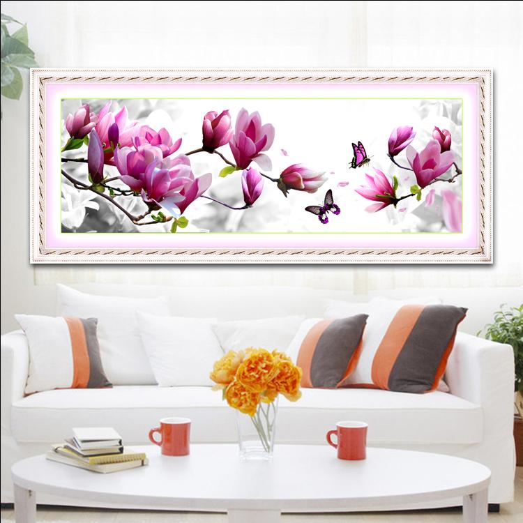 2019清新款植物花卉十字绣线绣丝线客厅优雅卧室小幅简单浪漫风景