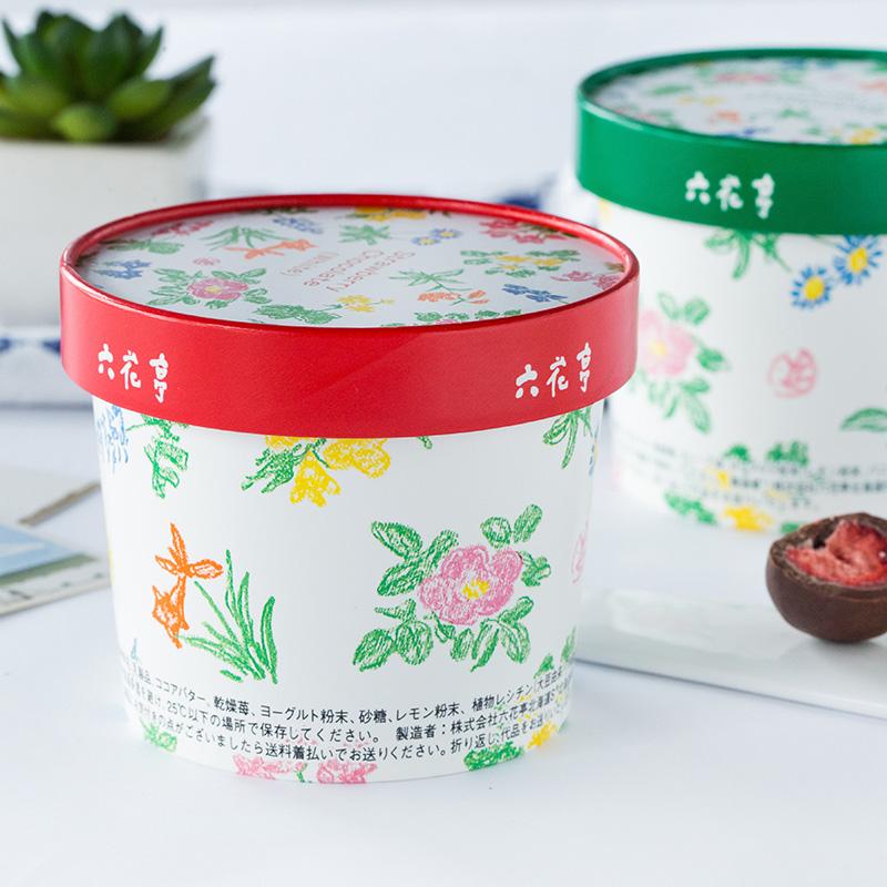 日本进口网红零食北海道六花亭草莓夹心黑白巧克力礼盒女友礼物