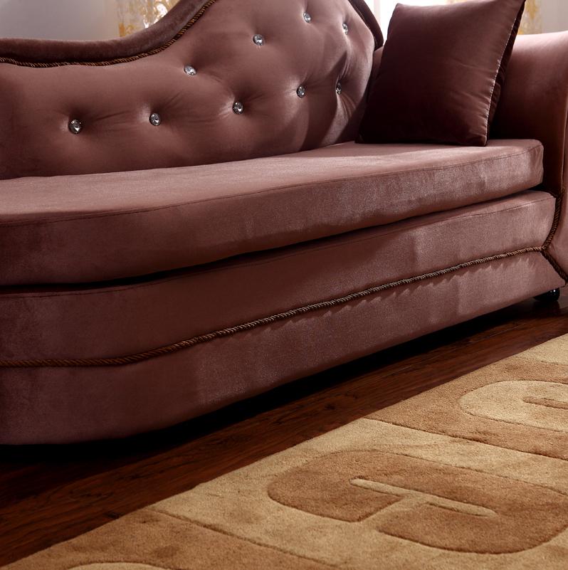 欧式植绒贵妃椅 古典时尚布艺沙发 高档拉钻太妃椅 小户型懒人椅