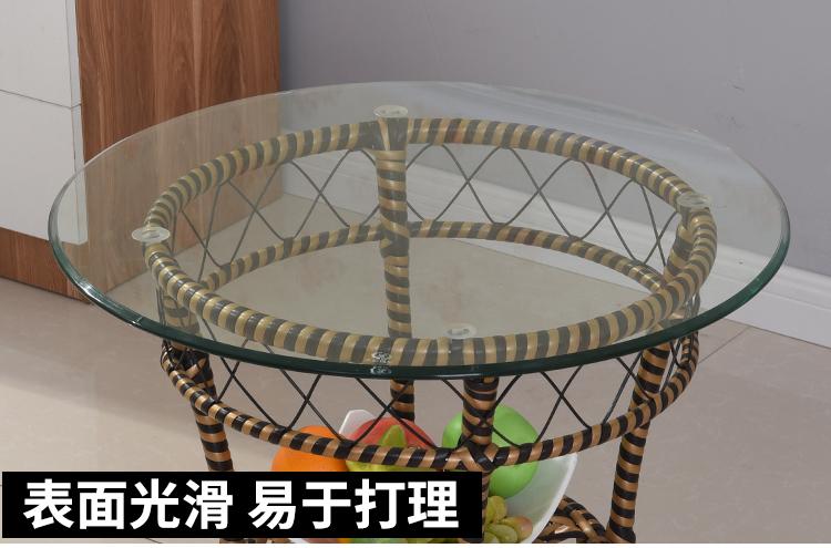 圆形钢化玻璃定做餐桌转盘家用大圆桌面茶几圆玻璃定制园台面圆盘