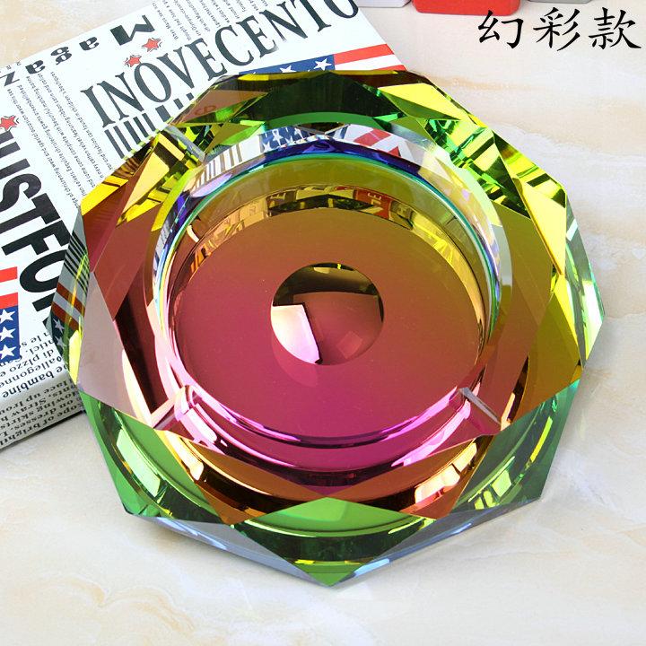 时尚水晶玻璃烟灰缸创意个性家用客厅高档大号欧式潮流定制LOGO