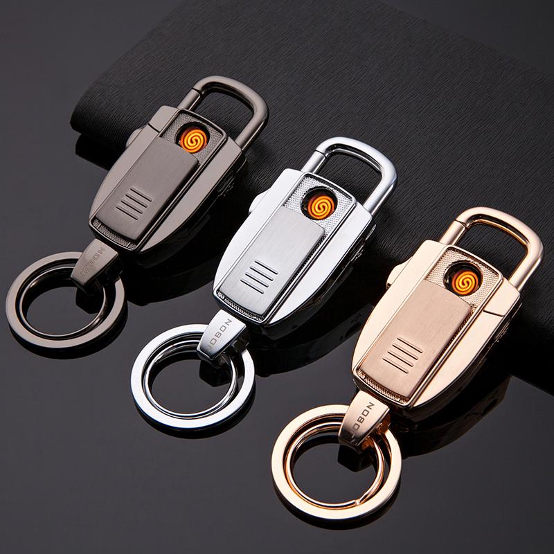 中邦汽车钥匙扣男士腰挂钥匙链挂件多功能充电打火机钥匙扣礼物