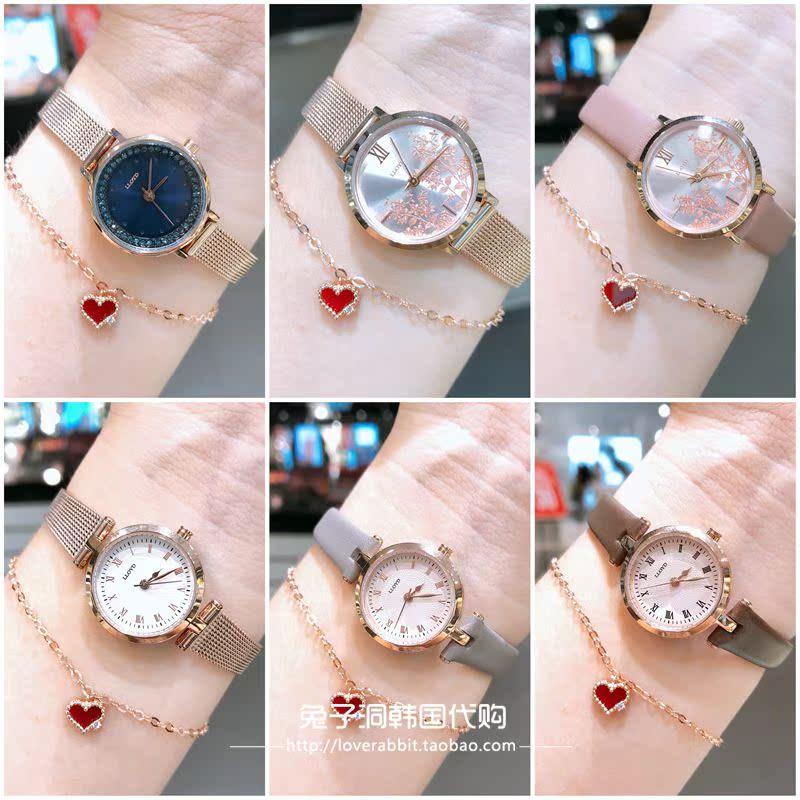 月新款特价秋叶日韩腕表百搭精致女士圆形手表 9 专柜正品采购 LLOYD