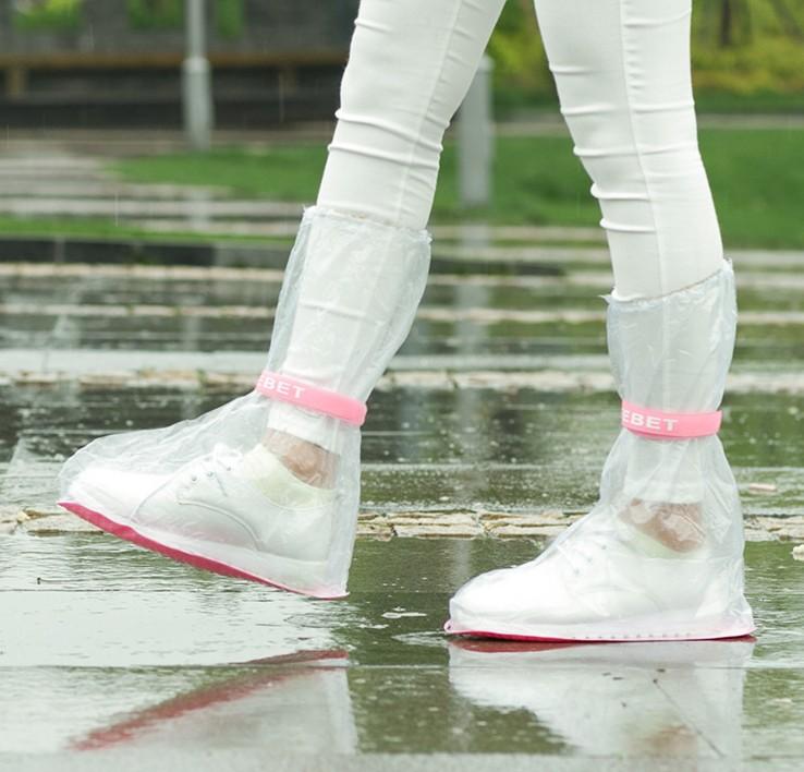 雨鞋套 防雨防水男女加厚防滑耐磨加厚底魔術貼下一次性雨天鞋套