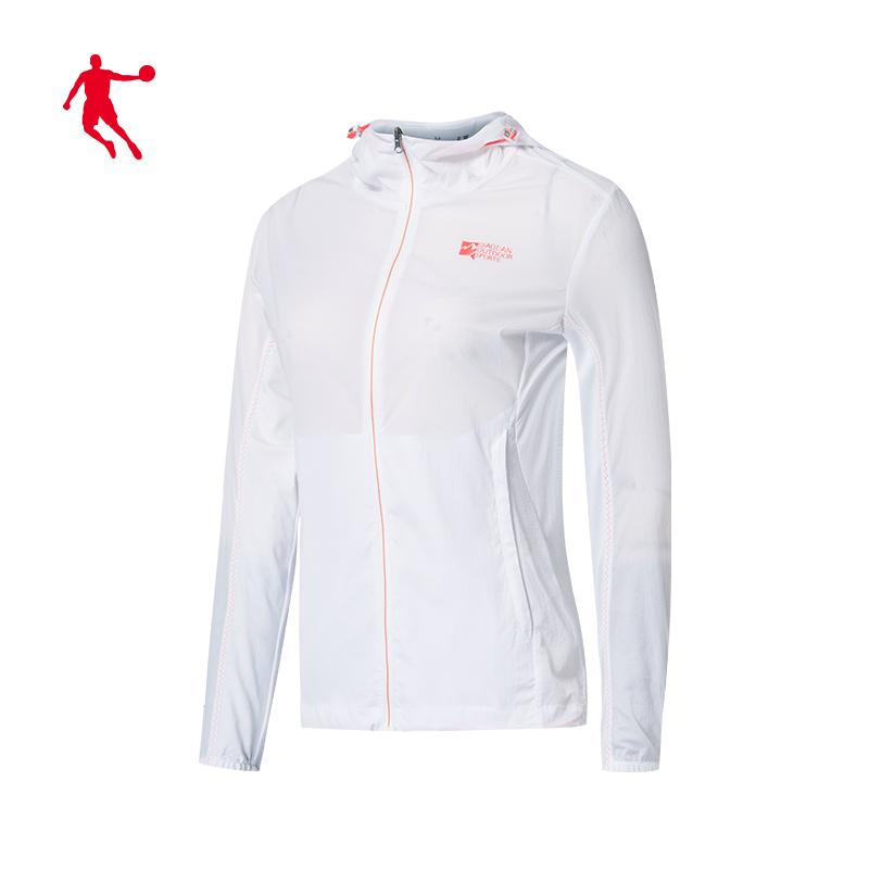 乔丹梭织风衣女  夏季新款女子运动风衣速干防晒衣 2020  商场同款