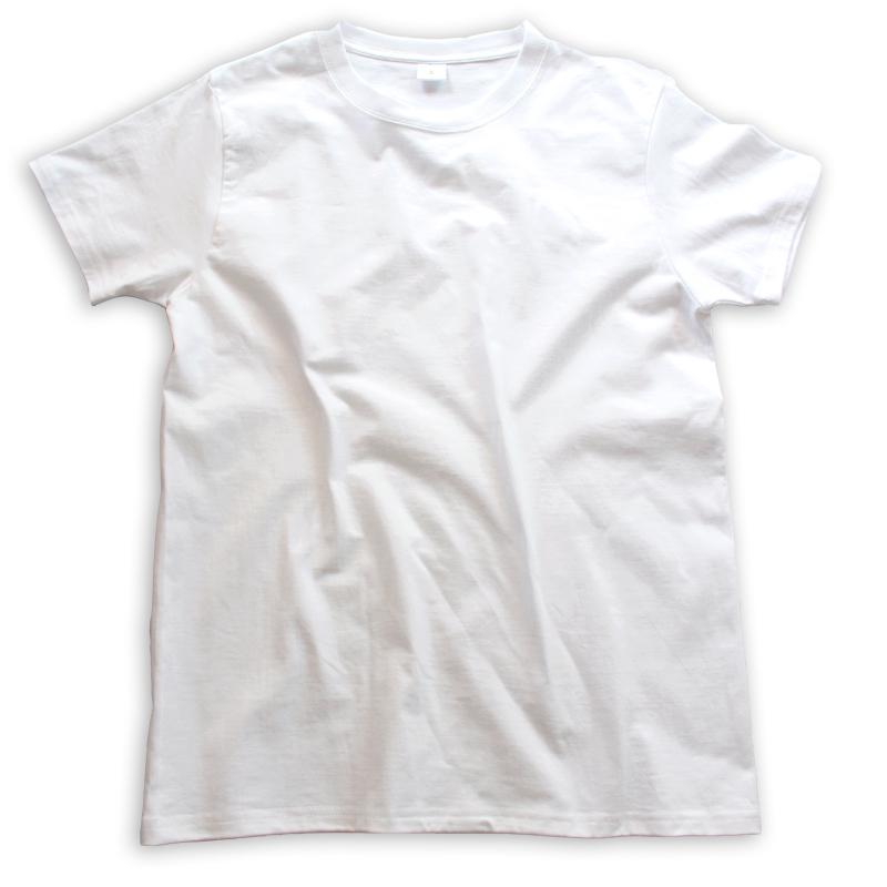 (两件装) 200g新疆纯棉圆领短袖纯白色打底T恤男女宽松上衣夏季