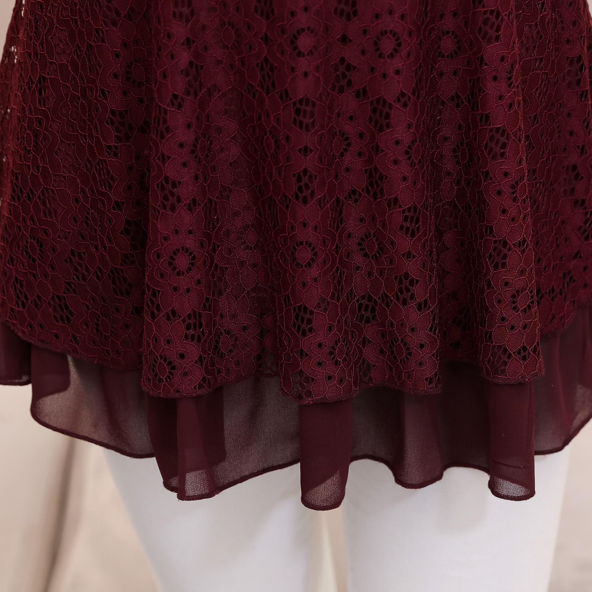 中老年女装秋装长袖T恤蕾丝打底衫女妈妈装40-50岁上衣秋冬连衣裙