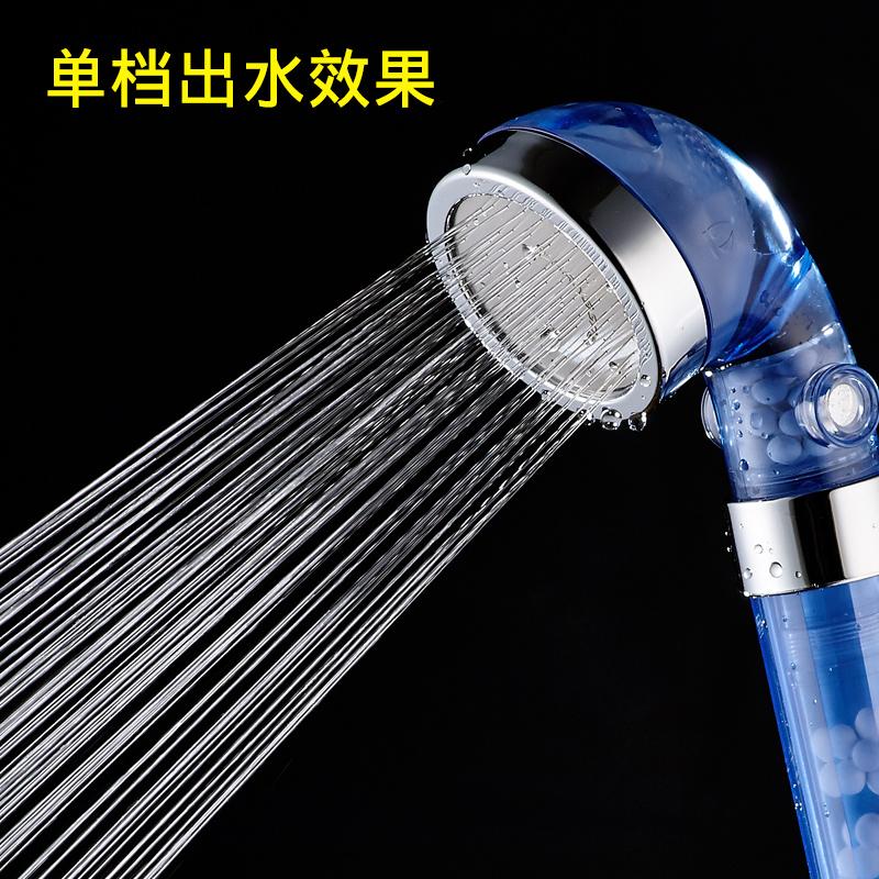 增压淋浴花洒喷头套装淋浴单头手持浴室加压热水器淋雨洗澡莲蓬头