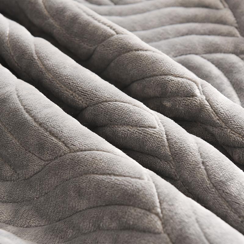 紫罗兰法兰绒小毛毯双人毯子夏季毛巾被空调午睡毯单人薄床单被子