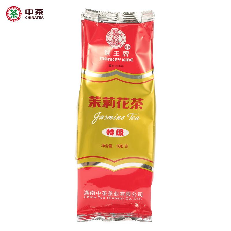中粮出品 100g 茉莉花茶 特级再加工茶 袋装 茉莉花茶 猴王 中茶