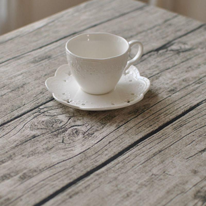 创意树皮纹餐垫复古仿真木纹餐巾桌布茶几布棉麻布艺拍照背景桌布