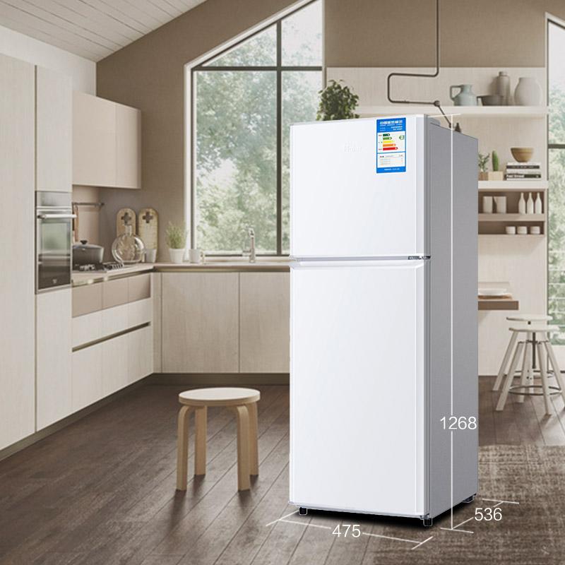 升海尔小型家用静音节能双门小冰箱 137 137TMPF BCD 海尔 Haier