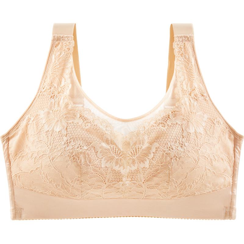 水中花睡眠背心式无钢圈内衣女聚拢上托收副乳全罩杯文胸性感胸罩
