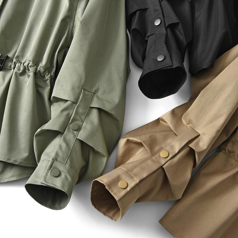 米家好品质大簰品质 风衣女秋款韩版新款大衣小个子宽松短款外套Y