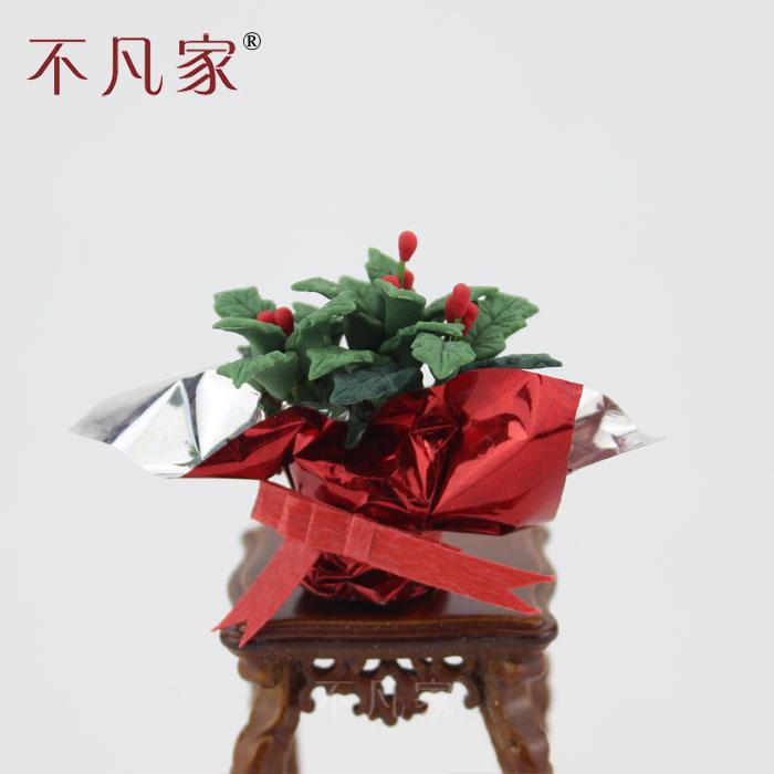 24款可选娃娃屋粘土人迷你微缩花手工DIY场景模型收藏礼物
