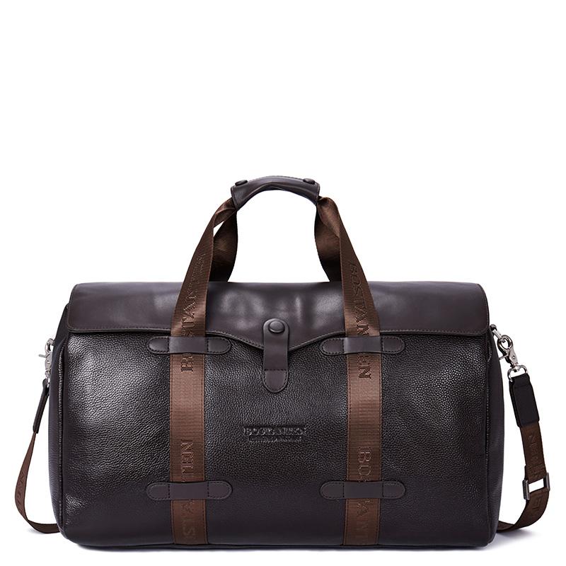 真皮大容量手提包短途旅行袋 牛皮行李包 波斯丹顿商务男士旅行包