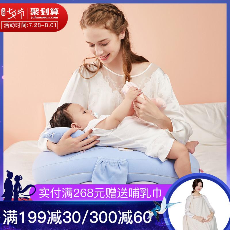樂孕哺乳枕頭多功能哺乳枕餵奶枕抱寶寶餵奶墊護腰神器新生兒靠枕