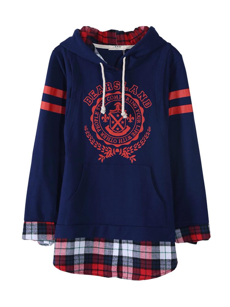 一窝熊崽春秋季外出时尚哺乳衣卫衣秋冬装加厚加厚长袖喂奶衣上衣