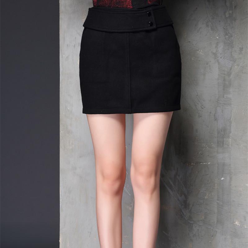 多田伊秀半身裙羊毛裙一步裙子女装气质职业裙包臀裙短裙秋冬