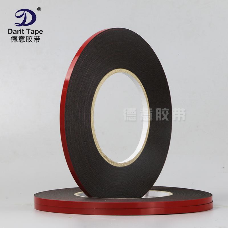 强力1mm厚黑色泡棉海绵双面胶带 LED灯条手机 防震密封泡沫双面胶