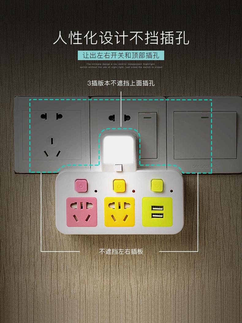 萬能家用插排宿舍插頭轉換器 USB 多功能插座面板多孔插板無線學生