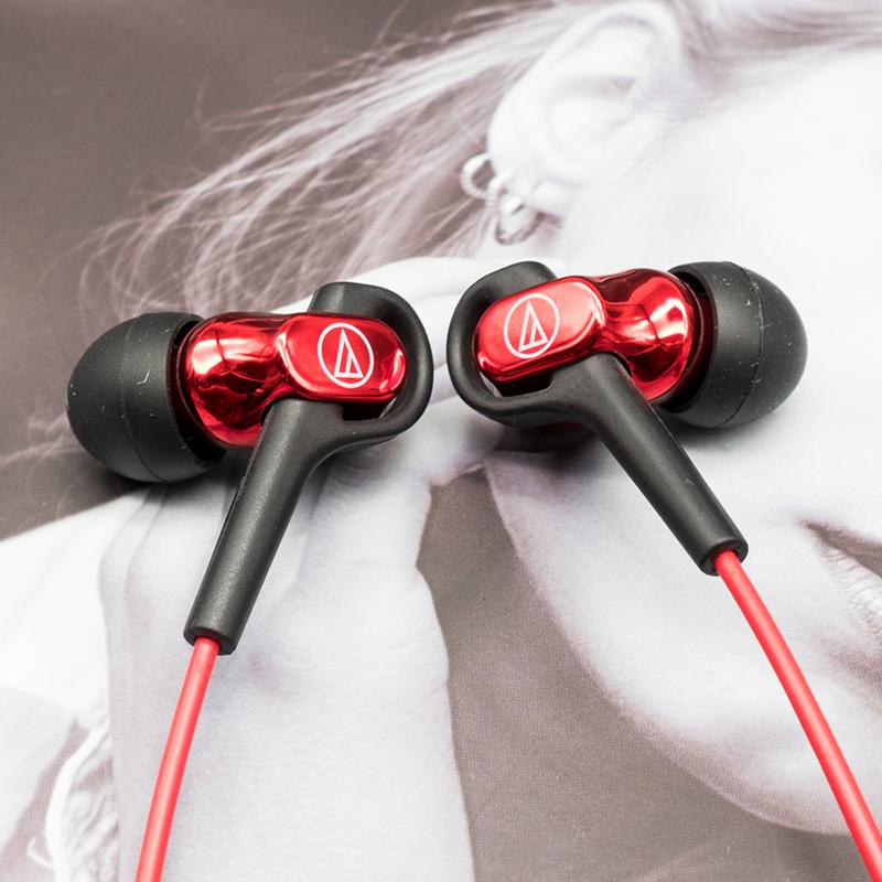 Audio Technica/鐵三角 ATH-CKB50女毒人聲平衡動鐵運動入耳式耳機手機通用蘋果魔音樂hifi耳塞猥瑣L型三角鐵