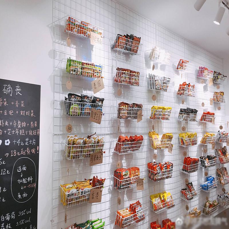 ins置物架托盘超市家用挂篮货架网格网片铁艺照片墙收纳篮置物篮