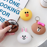 Airpods protective cover headset storage bag cute cartoon data cable charger storage box mini coin purse