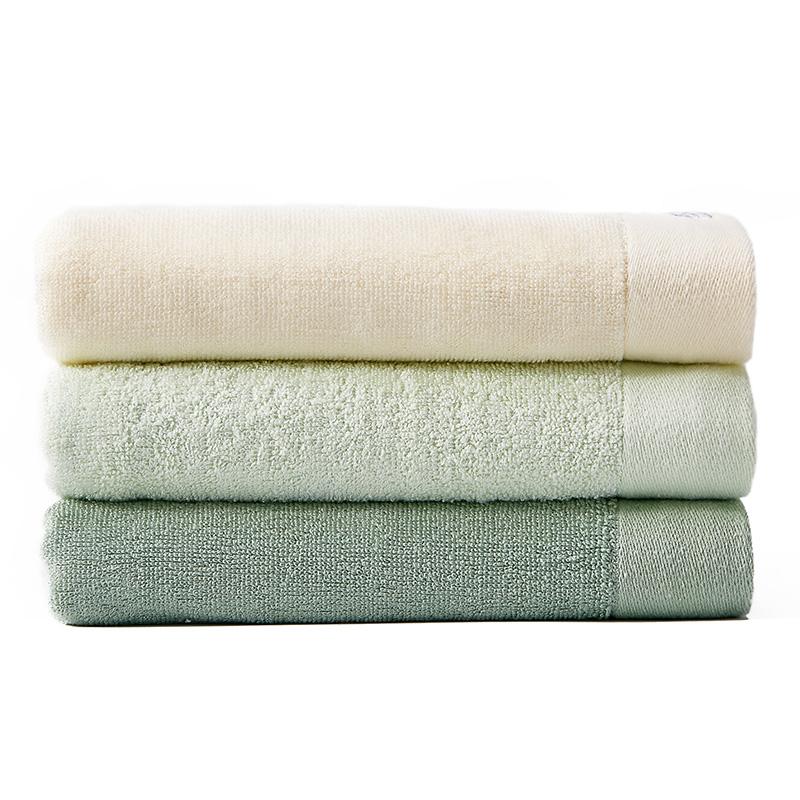 洁丽雅 竹浆纤维绣花浴巾 舒适裹身浴巾柔软吸水成人大毛巾 浴巾
