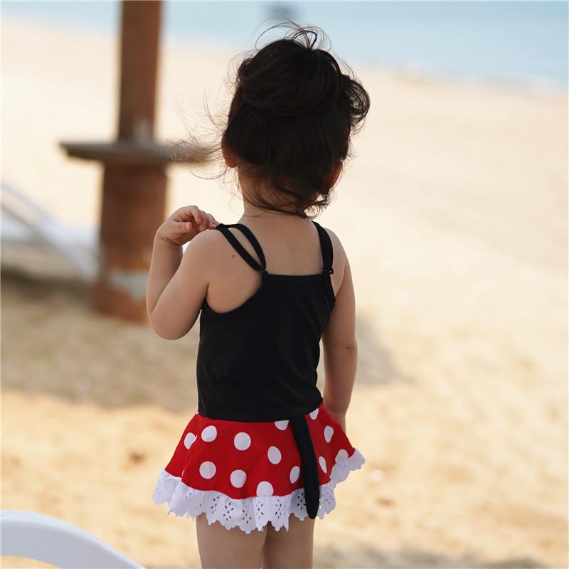 出口欧美儿童泳衣 女孩米奇米妮ins韩国泳装宝宝小童 男童游泳衣