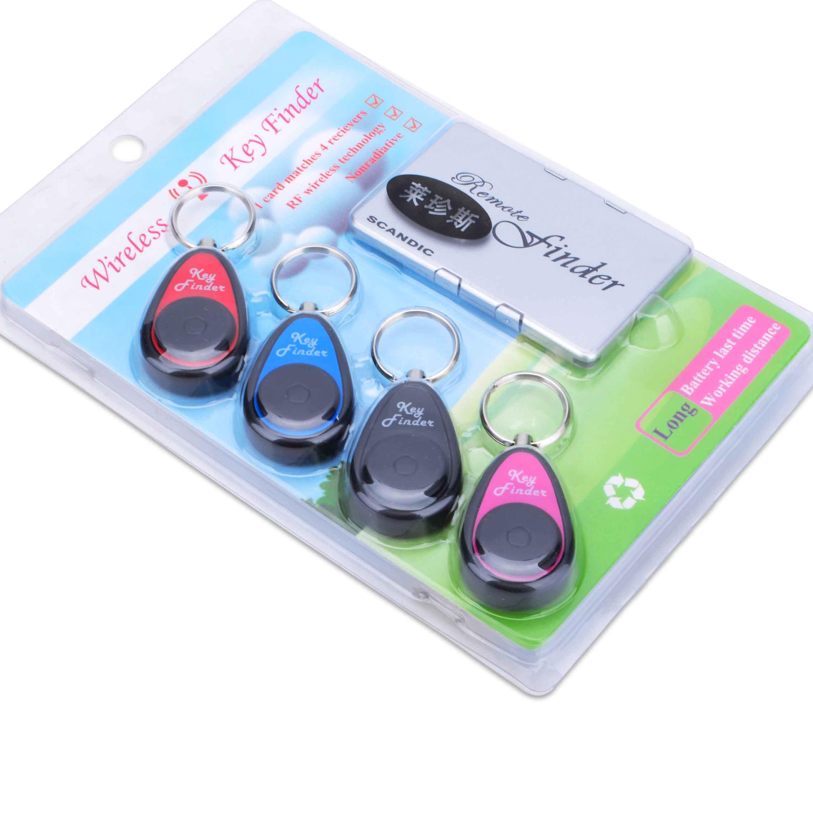 包邮1托4无线钥匙寻找器电子防丢器新奇寻物器创意迷你防丢小礼品