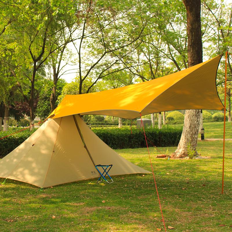 静星户外登山涂银天幕涂硅天幕搭配金字塔帐篷使用防晒遮阳挡雨布