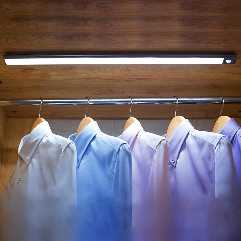 无线人体感应灯充电式橱柜灯厨房吊灯衣柜柜底灯条走廊起夜灯 led